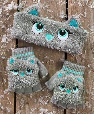 The Lakeside Collection Critter Headwrap & Glove Set - Kitty