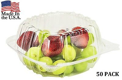 Plastic Food Containers 50 Pieces Take Out To Go Box Tight Seal Clear Contаiner