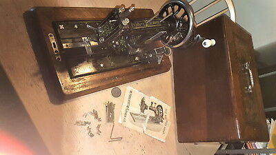 Antique 19 Century Frister & Rossman Mother Of Pearl Sewing Machine /not Singer