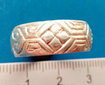 Old silver ring of the 18th-19th century
