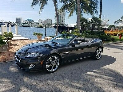 2014 Jaguar XKR XKR SUPERCHARGED 2014 XKR Convertible Supercharged Stratus Pearl Metallic  / Black Warranty