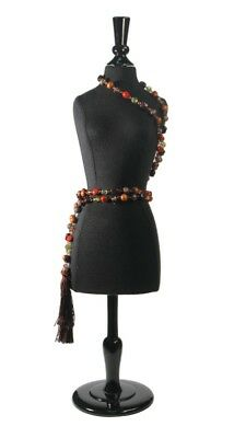 Black Small Jewelry Display Body Form - Great for Jewelry OR Scarf