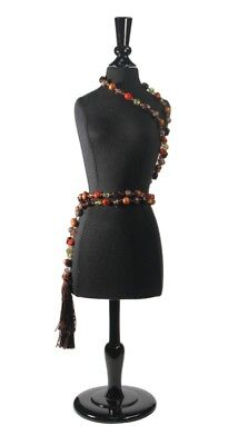 Small Female Mannequin Torso Dress Form Display W/ Black Stand - NEW