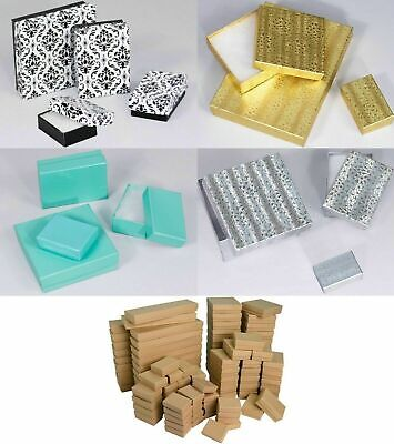 Lot Of 10,20,50,100 Pcs Cotton Filled Jewelry Box Necklace Box Jewelry Gift Box