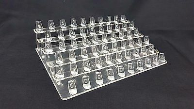 60 Fingers Display Acrylic Jewelry Ring Display Stand Showcase Display