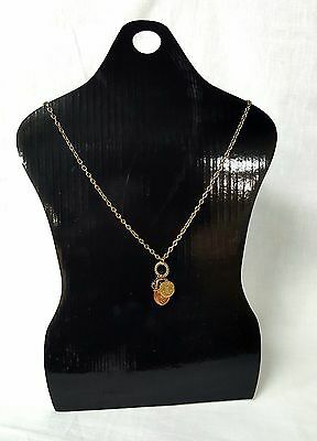 """17 1/2"""" Tall Black Cardboard Necklace/Scarf Easel Display Stand - 10 Pcs/Set"""