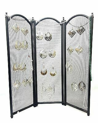 3 Panel Folding Screen Earring Jewelry Display - Foldable easy to travel with
