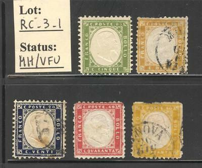RC_3_1. REGNO. Early Kingdom stamps (1862). Great CV !
