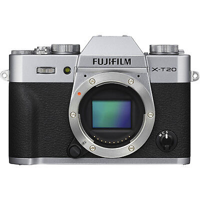 Fujifilm X-T20 Mirrorless Digital Camera Body (Silver)