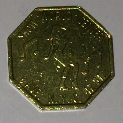 Vintage Show World Center 42Nd St/8 Ave Nyc Adult Entertainment Peep Show Token