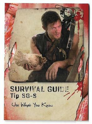 Walking Dead Survival Box Survival Guide Chase Card #SG-S Use What You Know
