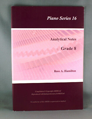 AMEB Piano Analytical Notes by Ross Hamilton-Various Series & Grades - Brand New