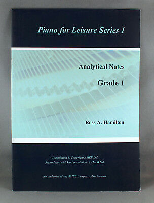 AMEB Piano For Leisure Analytical Notes by Ross Hamilton-Various Series/Grades