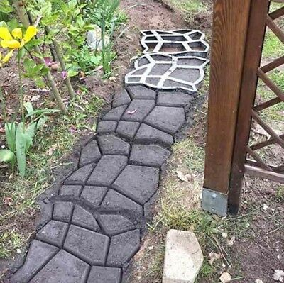 DIY Building Paths Mold Country Stone Concrete Pattern Walk Stepping Maker Mould