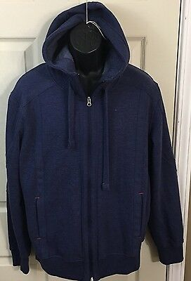 Men's Mondetta Blue Full Zip Jacket With Hood Size Large