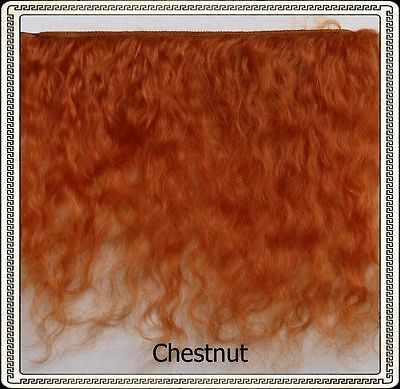 """Reborn Doll Mohair  CHESTNUT,  Wefts measure approx 3"""" - 4"""" X 36"""""""