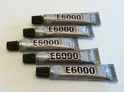 5  tubes of E-6000 Jewellery & Craft Glue Adhesive 5.32ml / .18Fl.OZ