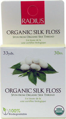 Natural Biodegradable Silk Floss, Radius, 33 yards