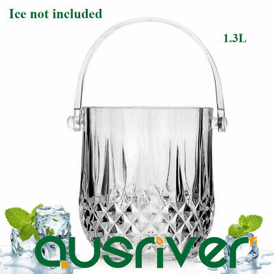 1.3L Acrylic Wine Ice Bucket Beer Champagne Beverage Cooler Party Clear