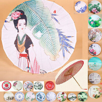 Chinese Traditional Retro Handmade Paper Umbrellas Parasol Dance Wedding Prop