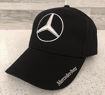 Mercedes Benz 3D Logo Adjustable Hat Cap Men Women (Black) New With Tag
