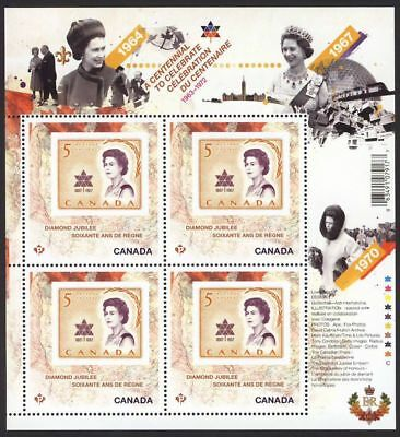 mca. QUEEN Elizabeth ll Diamond Jubilee 2/6 MiniSheet of 4 Canada 2012 MNH 2514i