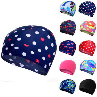 Unisex Men Ladies Strong Stretchable Swimming Pool Cap Long Protect Hair Hats