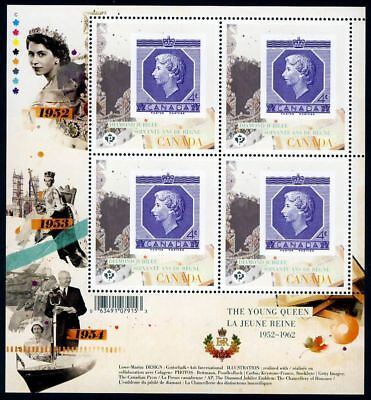 mca. QUEEN Elizabeth ll Diamond Jubilee 1/6 MiniSheet of 4 Canada 2012 MNH 2513i
