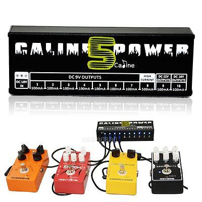 Guitar Effect Pedal Power Supply NEW CP-05 10 Isolated Output 9V 12V 18V US