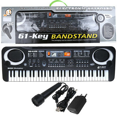 Kids 61 Key Digital Electronic Keyboard & Microphone Electric Piano Organ AU