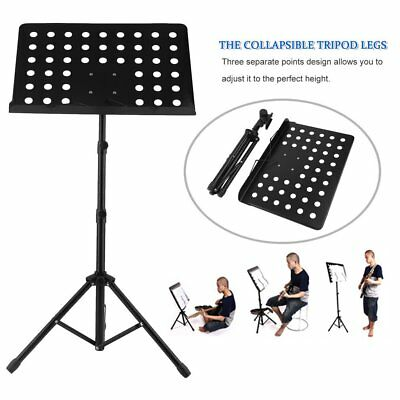 Heavy Duty Orchestral Conductor Sheet Music Stand Holder Tripod Base Foldable PR