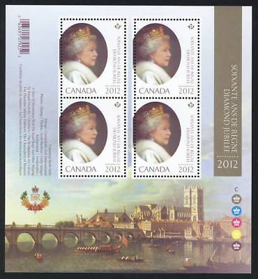 mca. QUEEN Elizabeth ll Diamond Jubilee 6/6 MiniSheet of 4 Canada 2012 MNH 2518i