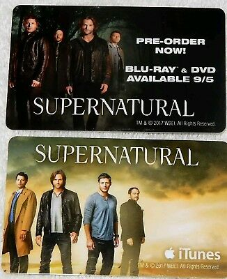 SDCC 2017 EXCLUSIVE Comic Con - Pair of SUPERNATURAL Hotel Room Key Cards