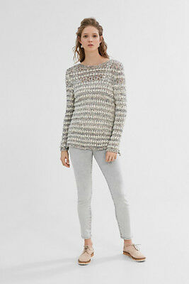 NEW Esprit Womens EDC - Jumper in a floaty texture knit OFF WHITE