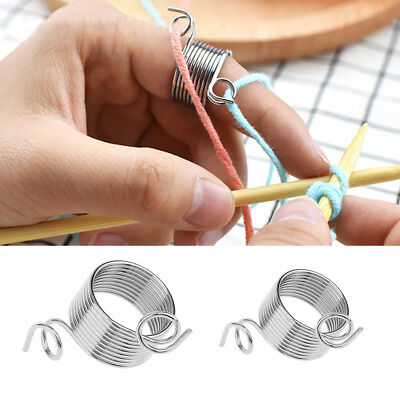 Stainless Steel Knitting Tool Finger Thimble Yarn Stranding Guide