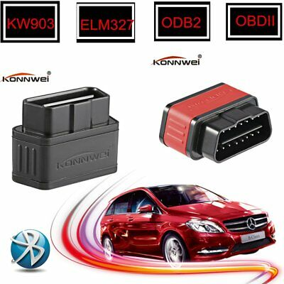 Car Bluetooth Diagnostic Scanner Code Reader KW903 ODB2 ELM327 For Android P#UK