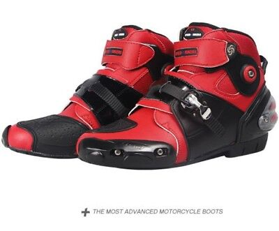 New MX GP Motorcycle Offroad Racing sports Leather wear Boots Shoes RED
