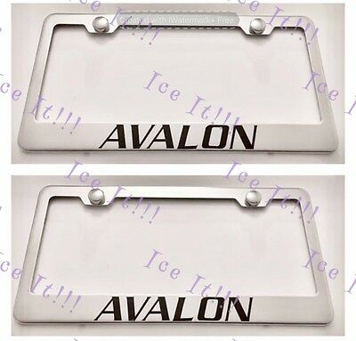 2X VOLVO Stainless Steel License Plate Frame Rust Free W// Caps 4 Holes
