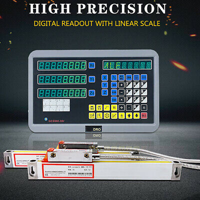 2 Axis Digital Readout For Milling Lathe Machine With Precision Linear Scale