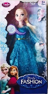"""Frozen Singing Elsa,s(Let It Go)  ,with Squeaking Olaf 11.5""""doll Gift Set"""