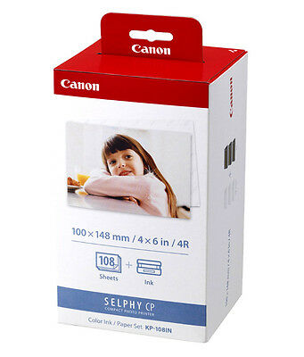 Canon SELPHY CP1200 KP-108IN Color Ink And Paper Postcard Size