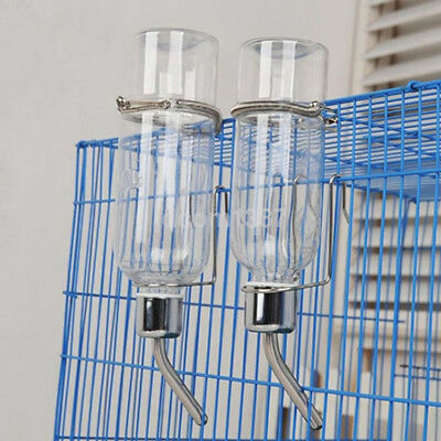 Pet Hamster Dog Water Drinking Bottle Rabbit Dispenser Cylindrical Feeder US