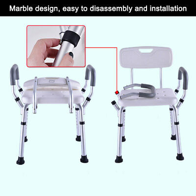 126+ Sold Shower Chair Bath Seat Adjustable Medical Aluminum Stool Bench Seating