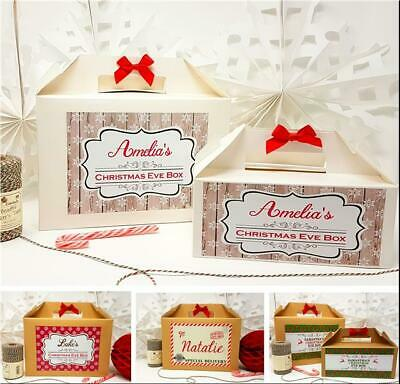 PERSONALISED CHRISTMAS EVE BOX PRESENT XMAS WITH Free Gift Santa Certificate