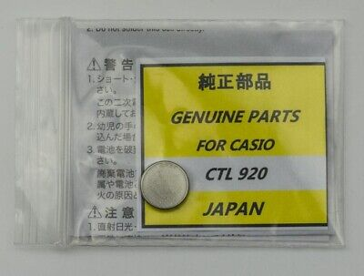 Casio lithium watch Capacitor CTL 920 rechargeable battery new stock batteries