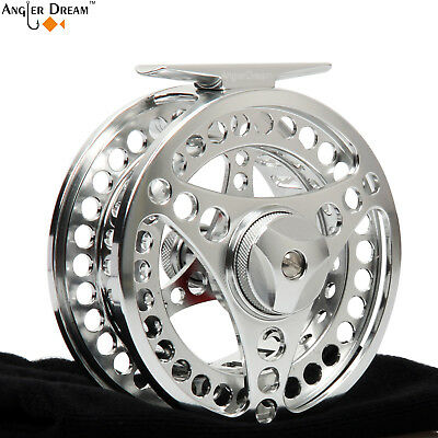 3/4 5/6 7/8 9/10WT Fly Reel CNC Machined Aluminum Silver Fly Fishing Reel