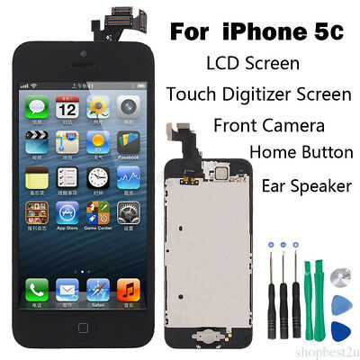 Full Set LCD Touch Screen Digitizer Assembly Replacement for iPhone 5C Black