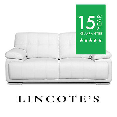 MASSA Pocket-Sprung Italian Inspired Leather Sofas 3 + 2 Seaters + Armchairs