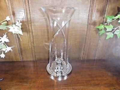 """RARE EXCELLENT Waterford Crystal SIREN HURRICANE LAMP - 11.5"""" - discontinued"""