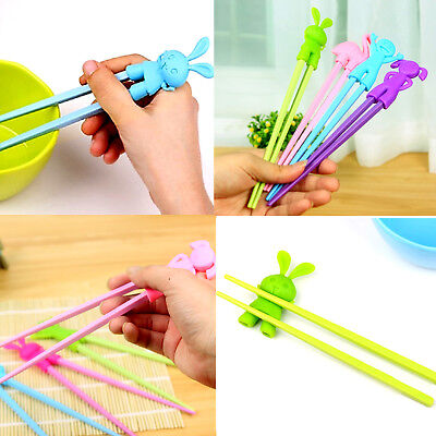 Children Kids Training Learning Beginners Chopsticks Silicon Rabbit Boy Girl